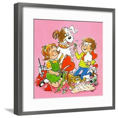 The Red and White Box - Jack & Jill-Jackie Lacy-Framed Art Print