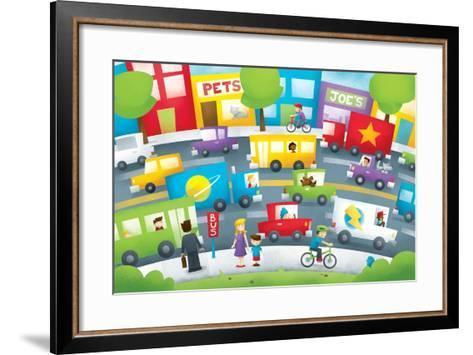 City Street - Turtle-Marcus Cutler-Framed Art Print