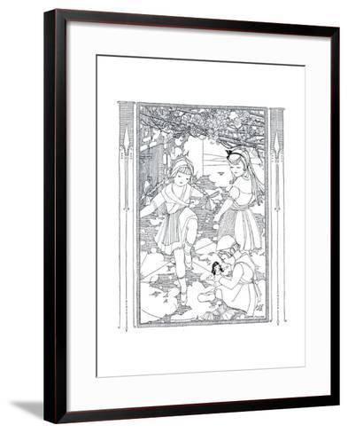 Jeanne's Wash Day - Child Life-Mary M. Sullivan-Framed Art Print