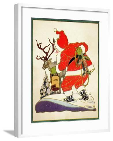 Harnessing the Reindeer - Child Life-Keith Ward-Framed Art Print