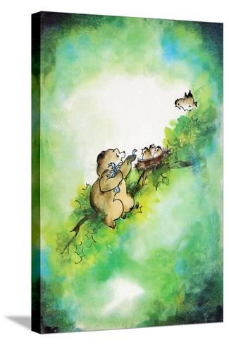 Bird-Brained - Jack & Jill-Edith Osborn Corbett-Stretched Canvas Print