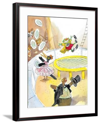 Ted, Ed. Caroll and the Trampoline - Turtle-Valeri Gorbachev-Framed Art Print