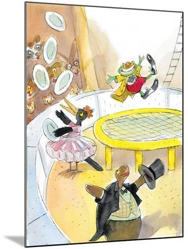 Ted, Ed. Caroll and the Trampoline - Turtle-Valeri Gorbachev-Mounted Giclee Print