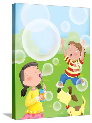 Bubbles - Humpty Dumpty--Stretched Canvas Print