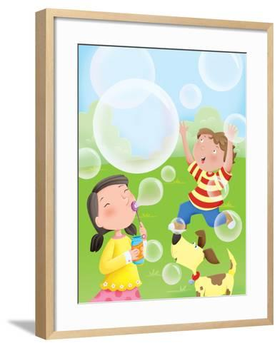 Bubbles - Humpty Dumpty--Framed Art Print