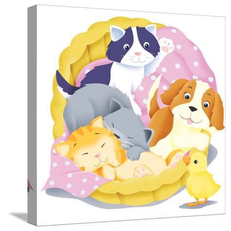 Animal Babies - Humpty Dumpty-Paul Sharp-Stretched Canvas Print