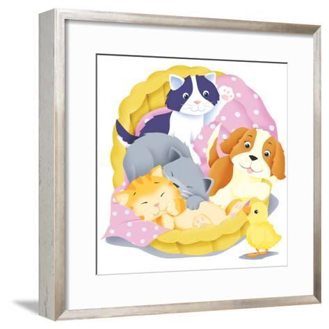 Animal Babies - Humpty Dumpty-Paul Sharp-Framed Art Print