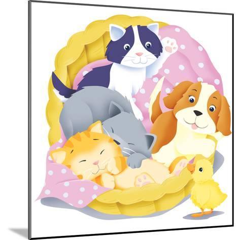 Animal Babies - Humpty Dumpty-Paul Sharp-Mounted Giclee Print