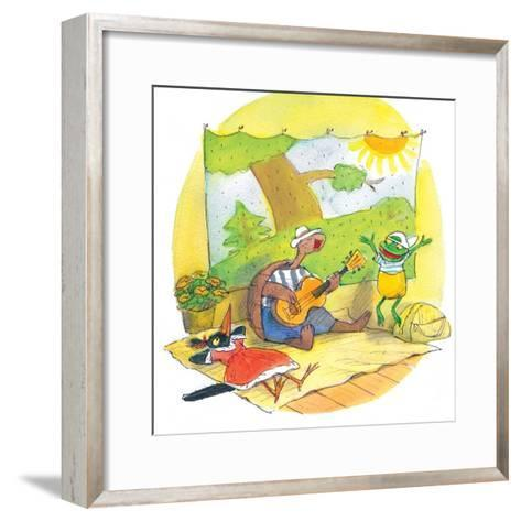 Ted, Ed and Caroll - the Picnic - Turtle-Valeri Gorbachev-Framed Art Print