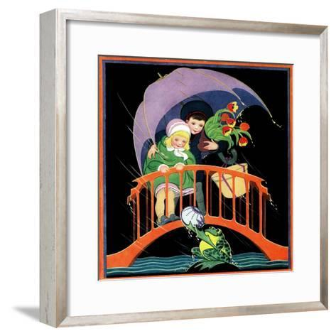 Rainy Day - Child Life-Hazel Frazee-Framed Art Print