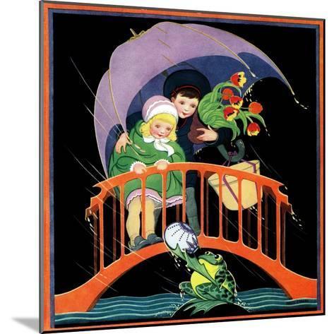 Rainy Day - Child Life-Hazel Frazee-Mounted Giclee Print