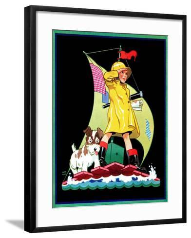 Look Out - Child Life-Keith Ward-Framed Art Print