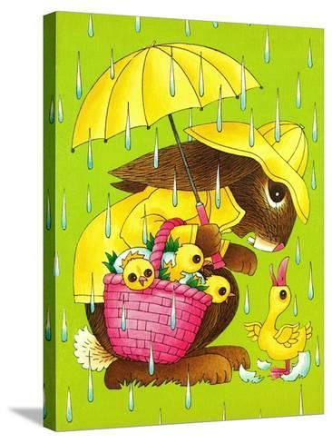 Rainy Easter - Playmate-Art Wallower-Stretched Canvas Print