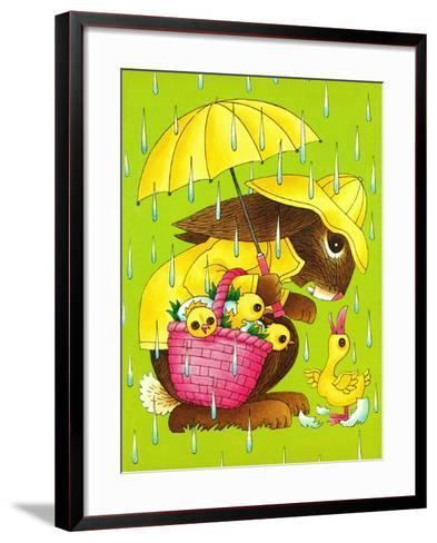 Rainy Easter - Playmate-Art Wallower-Framed Art Print