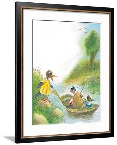 The Adventures of Ted, Ed, and Caroll - Turtle-Valeri Gorbachev-Framed Art Print