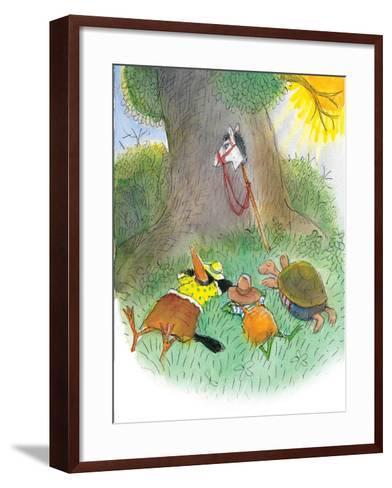 Ted, Ed, Caroll, and the Horse - Turtle-Valeri Gorbachev-Framed Art Print