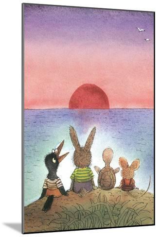 Something Red - Turtle-Valeri Gorbachev-Mounted Giclee Print