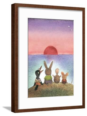 Something Red - Turtle-Valeri Gorbachev-Framed Art Print