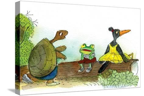 Ted, Ed, and Caroll are Great Friends - Turtle-Valeri Gorbachev-Stretched Canvas Print