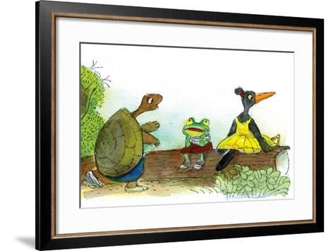Ted, Ed, and Caroll are Great Friends - Turtle-Valeri Gorbachev-Framed Art Print