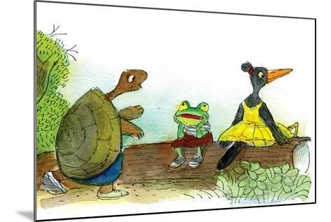 Ted, Ed, and Caroll are Great Friends - Turtle-Valeri Gorbachev-Mounted Giclee Print
