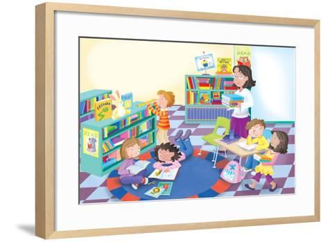 Library Time - Humpty Dumpty- Robin Boyer-Framed Art Print