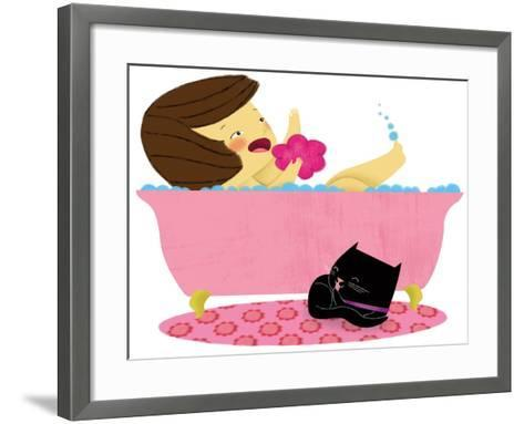 Kitten and Me - Turtle-Sheree Boyd-Framed Art Print