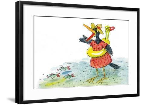 Ted, Ed and Caroll the Tiny Fish 3 - Turtle-Valeri Gorbachev-Framed Art Print
