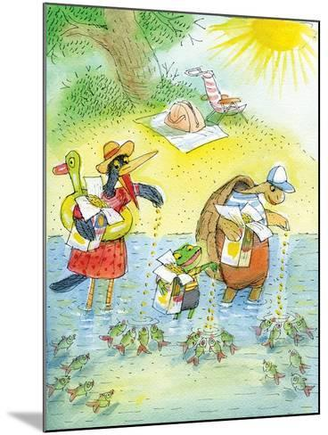 Ted, Ed and Caroll and the Tiny Fish 4 - Turtle-Valeri Gorbachev-Mounted Giclee Print