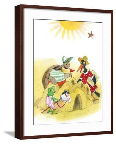 Ted, Ed and Caroll Happily Ever after 3 - Turtle-Valeri Gorbachev-Framed Art Print