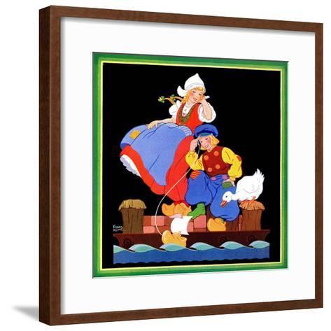 Setting Sail - Child Life-Frans Kirn-Framed Art Print