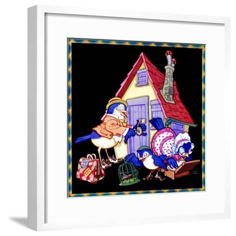 Packing Up to Head Home - Child Life-Keith Ward-Framed Art Print
