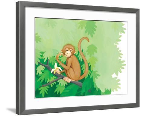 One Little Monkey - Turtle-Kathryn Mitter-Framed Art Print