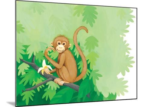 One Little Monkey - Turtle-Kathryn Mitter-Mounted Giclee Print