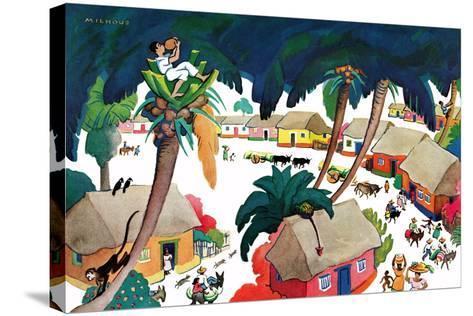 Island Village - Jack & Jill-Katherine Millhous-Stretched Canvas Print
