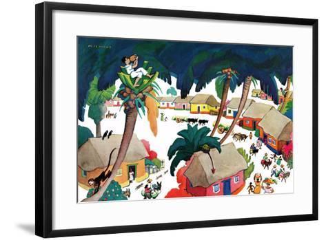 Island Village - Jack & Jill-Katherine Millhous-Framed Art Print