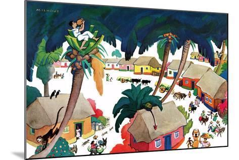 Island Village - Jack & Jill-Katherine Millhous-Mounted Giclee Print