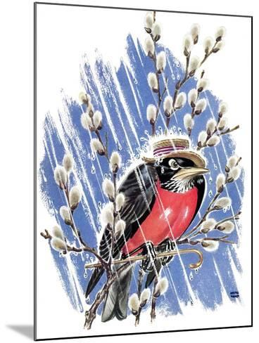 Wet Robin - Child Life-Keith Ward-Mounted Giclee Print