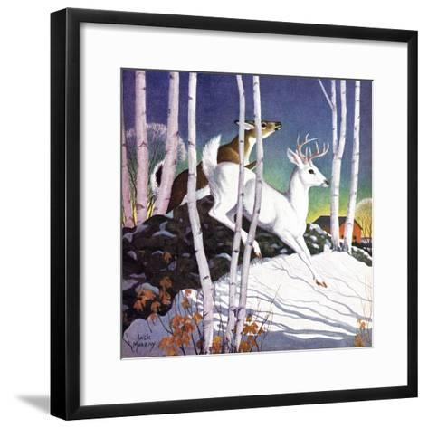 Winter Deer - Child Life-Jack Murray-Framed Art Print