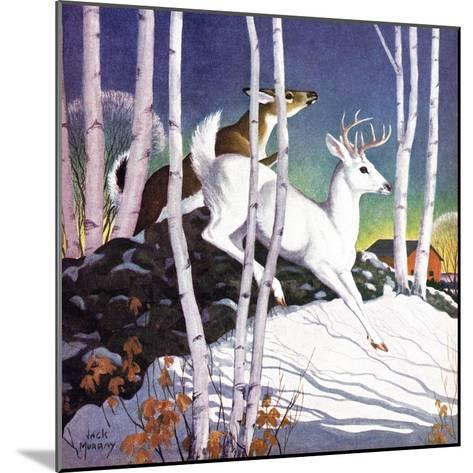 Winter Deer - Child Life-Jack Murray-Mounted Giclee Print