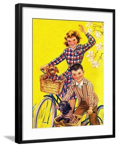 Spring Bike Ride - Child Life-Katherine Wireman-Framed Art Print