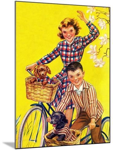 Spring Bike Ride - Child Life-Katherine Wireman-Mounted Giclee Print