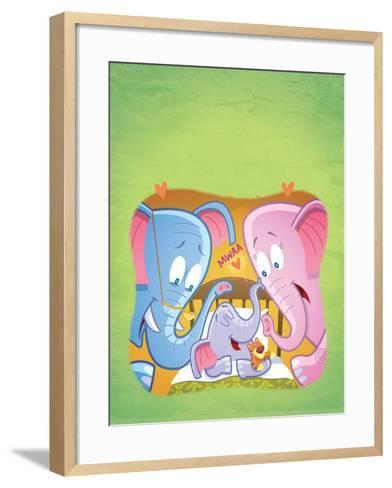 Little Elephant - Turtle-Gary LaCoste-Framed Art Print