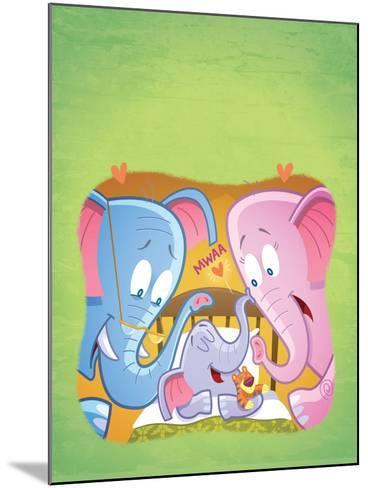 Little Elephant - Turtle-Gary LaCoste-Mounted Giclee Print
