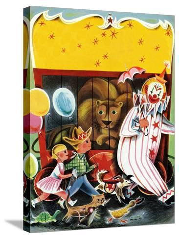 At the Circus - Child Life--Stretched Canvas Print