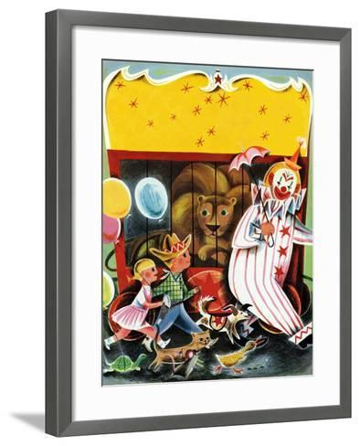 At the Circus - Child Life--Framed Art Print