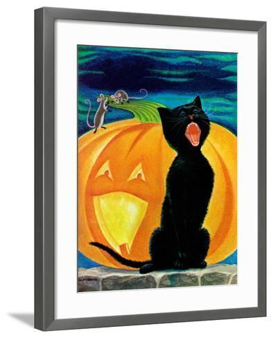 Cat's Meow - Child Life-Dorothy Forsyth-Framed Art Print