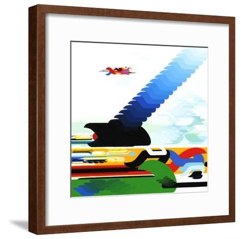 New Laughter Mode 2-Kenji Hirata-Framed Art Print