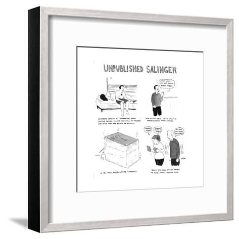 Unpublished Salinger - Cartoon-Emily Flake-Framed Art Print