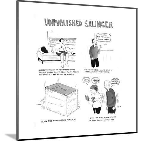 Unpublished Salinger - Cartoon-Emily Flake-Mounted Premium Giclee Print